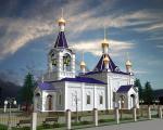 Вид храма по проекту